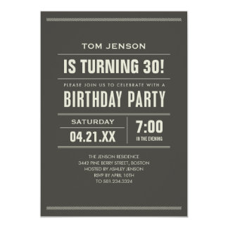 Invitaciones del cumpleaños para los adultos anuncios
