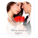 Invitaciones del damasco del vintage del boda de comunicado