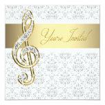 Invitaciones del decreto de la música del Clef Invitación