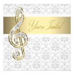 Invitaciones del decreto de la música del Clef agu Invitación