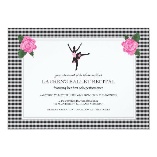 Invitaciones del decreto del ballet invitación 12,7 x 17,8 cm