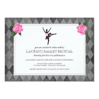 """Invitaciones del decreto del ballet invitación 5"""" x 7"""""""