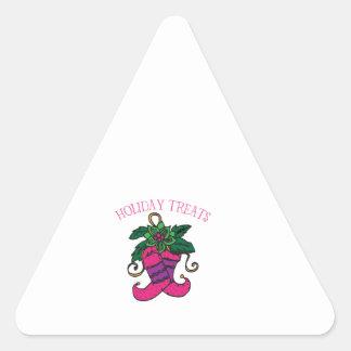 Invitaciones del día de fiesta calcomanías trianguladas