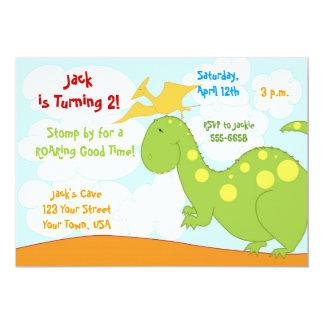 Invitaciones del dinosaurio invitación 12,7 x 17,8 cm