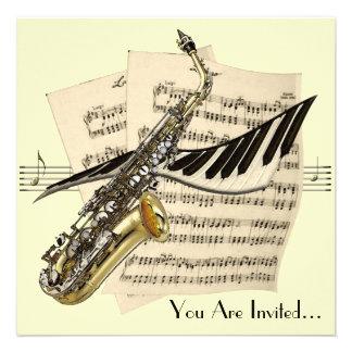 Invitaciones del diseño de la música