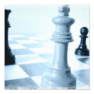 Invitaciones del diseño del ajedrez anuncios