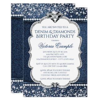 """Invitaciones del dril de algodón y de la fiesta de invitación 5"""" x 7"""""""