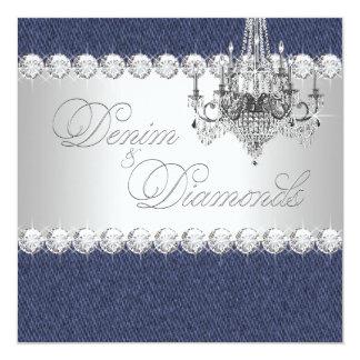 Invitaciones del dril de algodón y del fiesta del invitación 13,3 cm x 13,3cm
