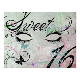 Invitaciones del dulce 16 de la mascarada comunicado personalizado
