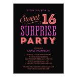 Invitaciones del dulce 16 de la sorpresa comunicados