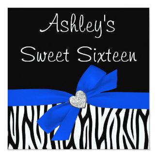 Invitaciones del dulce 16 del diamante del arco invitaciones personalizada