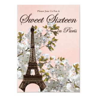 """Invitaciones del dulce dieciséis de París Invitación 5"""" X 7"""""""