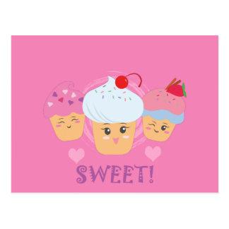¡Invitaciones del dulce - magdalenas! Tarjetas Postales