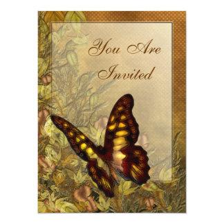 """Invitaciones del ejemplo de la mariposa del estilo invitación 5.5"""" x 7.5"""""""