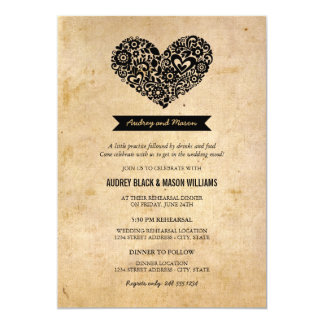 Invitaciones del ensayo y de la cena del boda invitación 12,7 x 17,8 cm