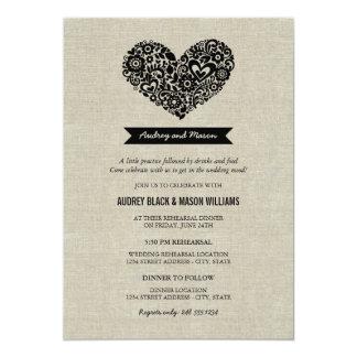 Invitaciones del ensayo y de la cena del boda anuncios