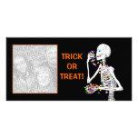 Invitaciones del esqueleto de Halloween Tarjeta Personal Con Foto