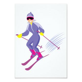 """Invitaciones del esquí invitación 3.5"""" x 5"""""""