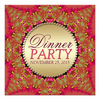 Invitaciones del este de encaje del fiesta de cena anuncio personalizado