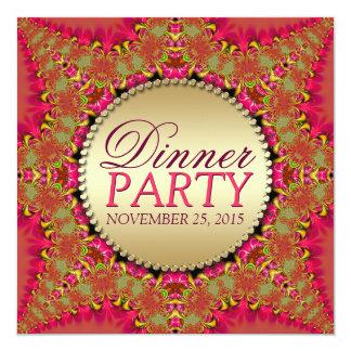 Invitaciones del este de encaje del fiesta de cena invitación 13,3 cm x 13,3cm