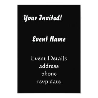 invitaciones del estilo del individuo invitación 12,7 x 17,8 cm