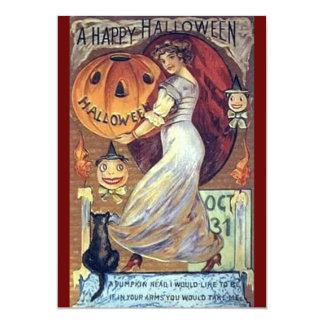 """Invitaciones del feliz Halloween del vintage Invitación 5"""" X 7"""""""