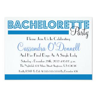"""Invitaciones del fiesta de Bachelorette (azules en Invitación 5"""" X 7"""""""