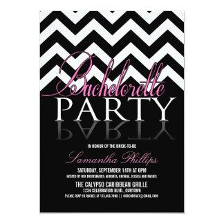 """Invitaciones del fiesta de Bachelorette Chevron Invitación 5"""" X 7"""""""