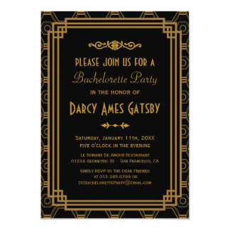Invitaciones del fiesta de Bachelorette del art Invitación 12,7 X 17,8 Cm
