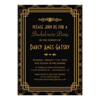 Invitaciones del fiesta de Bachelorette del art dé