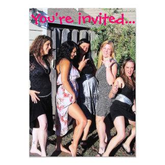 """Invitaciones del fiesta de Bachelorette Invitación 5"""" X 7"""""""