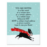 """Invitaciones del fiesta de Boston Terrier de las Invitación 4.25"""" X 5.5"""""""