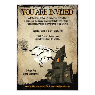 Invitaciones del fiesta de casa encantada de comunicados personales