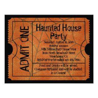 Invitaciones del fiesta de casa encantada del bole anuncio