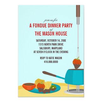 """Invitaciones del fiesta de cena de la """"fondue"""" invitacion personalizada"""