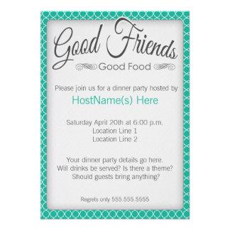 Invitaciones del fiesta de cena en esmeralda invitacion personal