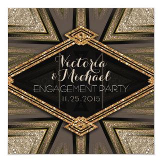 Invitaciones del fiesta de compromiso de Goldy del Invitación 13,3 Cm X 13,3cm