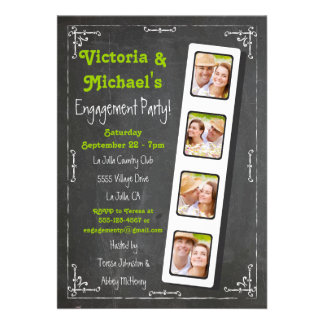 Invitaciones del fiesta de compromiso de la tira d