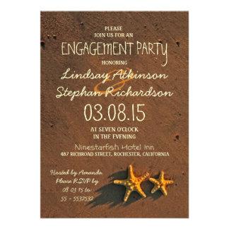 invitaciones del fiesta de compromiso de los pares anuncio