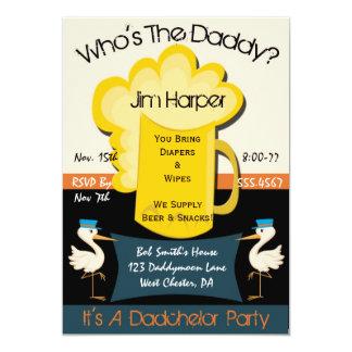 """Invitaciones del fiesta de Dadchelor Invitación 5"""" X 7"""""""