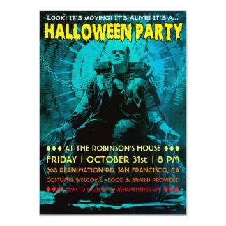 Invitaciones del fiesta de Frankenstein Halloween Invitación 11,4 X 15,8 Cm