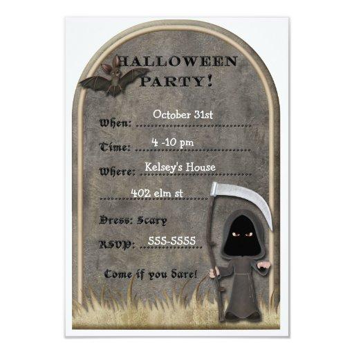 Invitaciones del fiesta de Halloween Invitación 8,9 X 12,7 Cm
