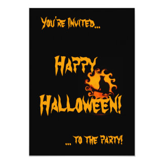 """Invitaciones del fiesta de Halloween Invitación 5"""" X 7"""""""