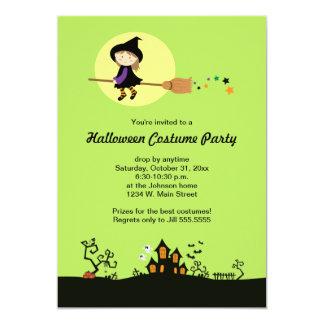 Invitaciones del fiesta de Halloween de la bruja Comunicados Personalizados