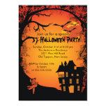Invitaciones del fiesta de Halloween de la casa Invitación 12,7 X 17,8 Cm