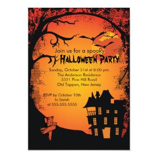 Invitaciones del fiesta de Halloween de la casa Anuncio Personalizado