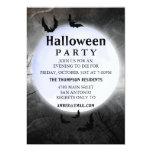 Invitaciones del fiesta de Halloween de la Luna Invitación 12,7 X 17,8 Cm