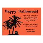 Invitaciones del fiesta de Halloween de la palmera Invitación 12,7 X 17,8 Cm