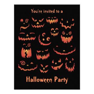 Invitaciones del fiesta de Halloween de las calaba Comunicados Personalizados