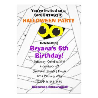 Invitaciones del fiesta de Halloween de los niños Anuncios Personalizados